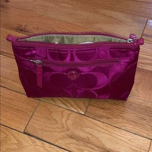 Coach oversized cosmetic pouch NWOT